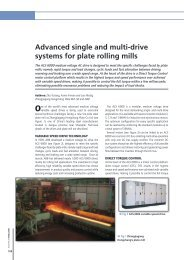 Advanced single and multi-drive systems for plate ... - Millennium Steel