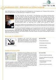 Kundenevent 2010 - Willkommen auf Schloss ... - c+e forum AG