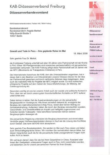 Brief an Frau Merkel - Kab-Freiburg
