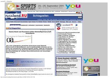 Russische bekanntschaft seiten Verlag, BlickPunkt Brandenburg
