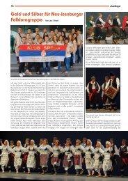 Gold und Silber für Neu-Isenburger Folkloregruppe