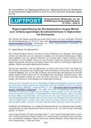 Regierungserklärung der Bundeskanzlerin Angela Merkel - Luftpost ...