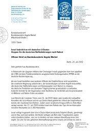 Offener Brief an Bundeskanzlerin Angela Merkel - ippnw