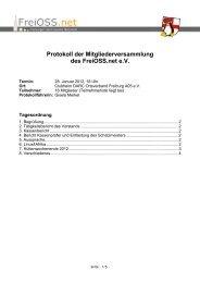 Protokoll der Mitgliederversammlung des FreiOSS.net e.V.