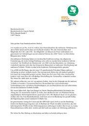 Brief an Bundeskanzlerin Merkel von 10 Bürgermeister für