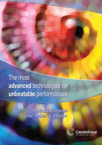The most Advanced Technologies for ... - CASALE GROUP