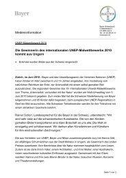 Die Gewinnerin des internationalen Unep-Malwettbewerbs ... - Bayer