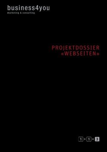 Projektdossier «Webseiten» - business4you