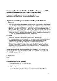 Bundesrats-Drucksache 331/11 v. 27.05.2011 - Verband ...