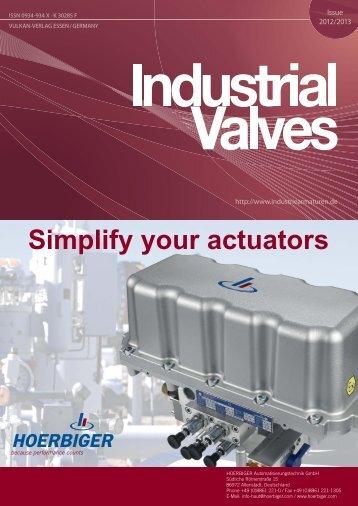 Simplify your actuators - Hoerbiger