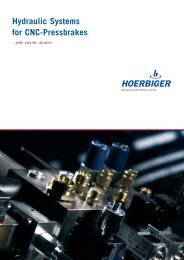 Hydraulic Systems for CNC-Pressbrakes - Hoerbiger