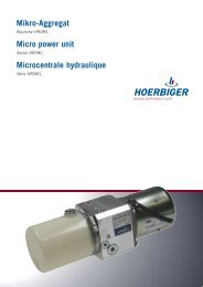 Mikro-Aggregat Micro power unit Microcentrale ... - Hoerbiger