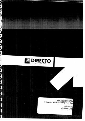 E DIRECTO - Seguro Integral de Salud
