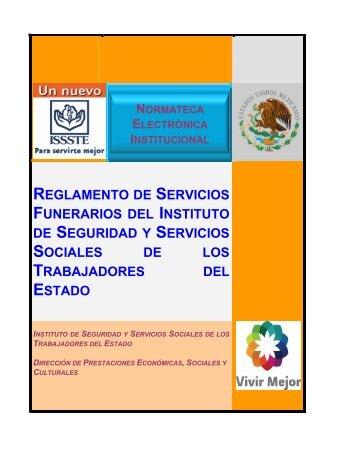 REGLAMENTO DE SERVICIOS FUNERARIOS DEL ... - Issste