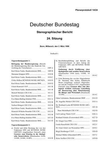 Stenographischer Bericht 24. Sitzung - Deutscher Bundestag