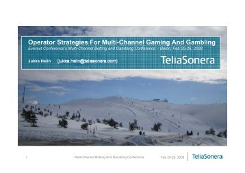 Operator Strategies For Multi-Channel Gaming And ... - Casinos.ch