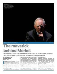 The maverick behind Merkel - Thomson Reuters
