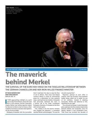 The maverick behind Merkel - Thomson Reuters