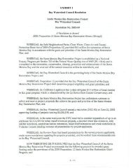 Bay Watershed Council Resolution - California Coastal Conservancy