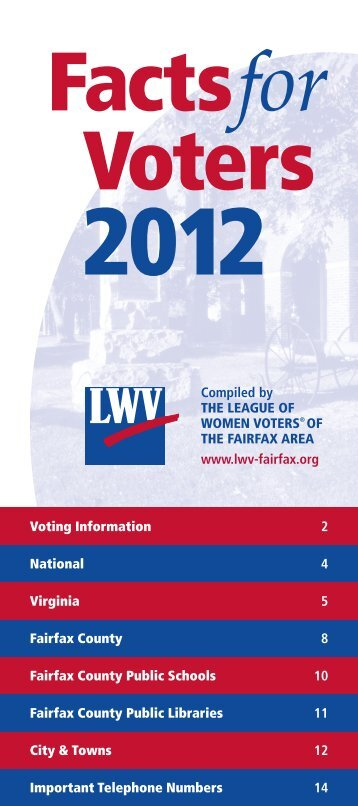 Facts for Voters - The League of Women Voters of the Fairfax Area