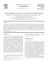 Dermatopathology of skin cancer in solid organ transplant recipients