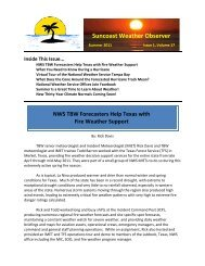 Suncoast Weather Observer - National Weather Service Southern ...