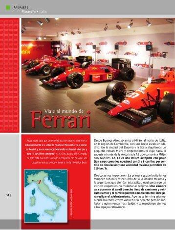 Viaje al mundo Ferrari