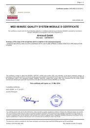 Quality system approval - Module D - Armacell