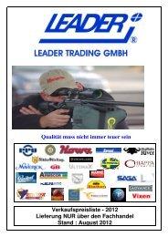 VK-Preisliste 2012-8 - LEADER TRADING GMBH