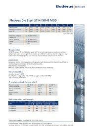 l Buderus Die Steel 2714 ISO-B MOD - Buderus Edelstahl GmbH