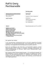 Abmahnung - Dr. Gottschalk - Rechtsanwälte   Wirtschaftsprüfer