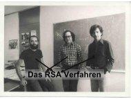 Das RSA Verfahren - Institut für Kryptographie und Sicherheit (IKS)