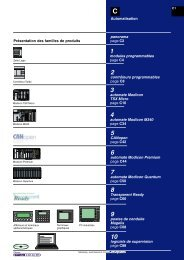 Plate-forme d'automatisme Modicon Premium - e-Catalogue ...