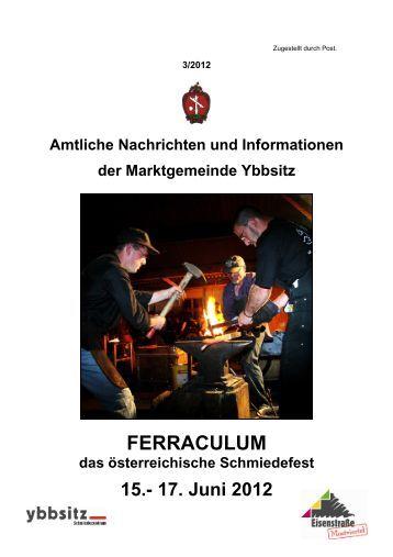 Amtliche Nachrichten Ausgabe 3/2012 - Marktgemeinde Ybbsitz