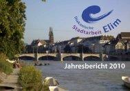 Jahresbericht 2010 als PDF ansehen - Diakonische Stadtarbeit Elim