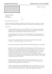 5.) Teil I - Umweltrelevante Stellungnahme aus der Beteiligung