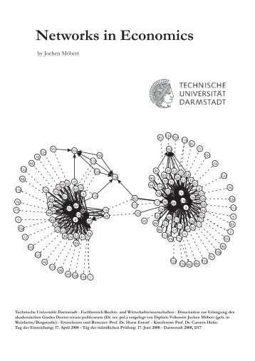 Networks in Economics - tuprints - Technische Universität Darmstadt