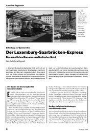 Luxemburg-Saarbrücken-Express - der Fahrgast