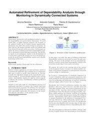 Automated Refinement of Dependability Analysis through ... - Cnr