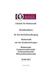 Modulhandbuch 2011 - Fakultät für Mathematik