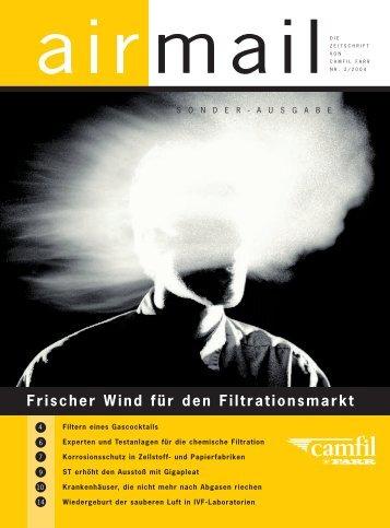 2004 - Frischer Wind für den Filtrationsmarkt - Camfil Farr