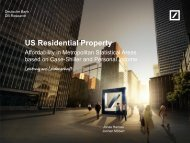 Presentation US Residential Property - Deutsche Bank Research