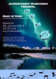 Jahreskonzert: Samstag, 26. Januar 2013 Öffentliche Hauptprobe