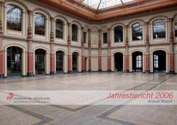 Download des kompletten Jahresberichts 2006 - Museum für ...