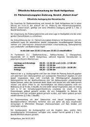Öffentliche Bekanntmachung der Stadt Heiligenhaus 23 ...