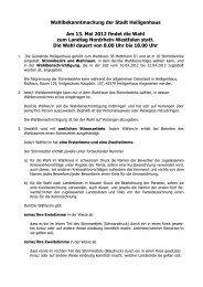 2 ÖB Wahlbekanntmachung Internet - Stadt Heiligenhaus