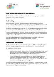 Kulturpreis Musikvermittlung Heiligenhaus Konzept