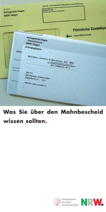 Mahnbescheid Magazine
