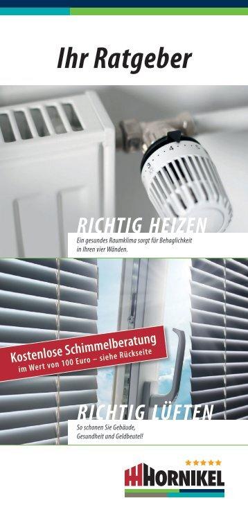 """Ratgeber """"Richtig heizen und lüften"""" (PDF-Download) - Hornikel"""