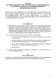 Satzung der Stadt Heiligenhafen über die Erhebung einer ...